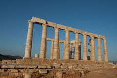 As ruínas antigas. Castelo de Poseidon. Imagens de Stock