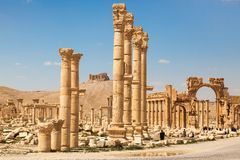 As ruínas antigas do Palmyra, Síria imagens de stock royalty free