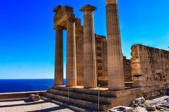 As ruínas da acrópole, da tradição da história e da cultura antiga fotos de stock
