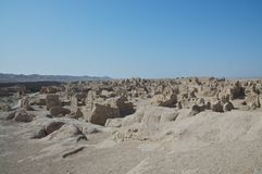 As ruínas da cidade antiga de Jiaohe Imagem de Stock Royalty Free