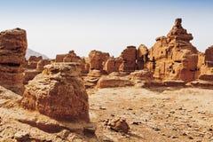 As ruínas da cidade antiga de Jiaohe, China Fotografia de Stock Royalty Free