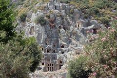 As ruínas da cidade antiga de Lycian de Myra Fotografia de Stock
