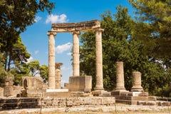 As ruínas da cidade do grego clássico da Olympia fotos de stock royalty free