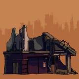 As ruínas da construção velha destruída Imagem de Stock Royalty Free