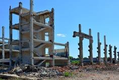 As ruínas da fábrica Imagens de Stock