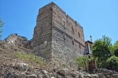 As ruínas da fortaleza do eslavo da déspota em Melnik, Bulgária imagens de stock