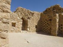 As ruínas das casas na fortaleza de Masada foto de stock royalty free