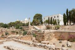 As ruínas de Carthage antigo, Tunísia, África fotos de stock royalty free