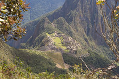 As ruínas de Machu Picchu Imagens de Stock Royalty Free
