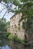 As ruínas de um castelo antigo Imagens de Stock