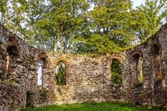 As ruínas de uma igreja velha Foto de Stock