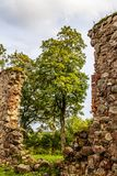 As ruínas de uma igreja velha Fotografia de Stock Royalty Free