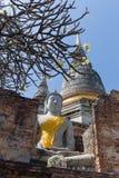 As ruínas de Wat Yai Chai Mongkon Fotografia de Stock