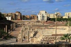 As ruínas do anfiteatro romano em Alexandria imagens de stock royalty free