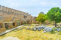 As ruínas do castelo de Alanya Imagem de Stock Royalty Free