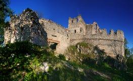 As ruínas do castelo Tematin fotografia de stock