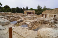As ruínas do palácio da Creta Grécia de Knossos Foto de Stock