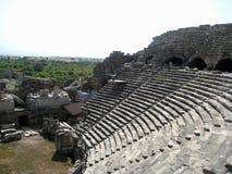 As ruínas do teatro antigo Imagens de Stock