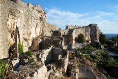 As ruínas em Les Baux-de-Provence, Provence, França fotografia de stock