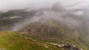 As ruínas famosas do inca do picchu do machu em peru Imagens de Stock