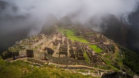 As ruínas famosas do inca do picchu do machu em peru Fotografia de Stock