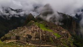 As ruínas famosas do inca do picchu do machu em peru Imagem de Stock