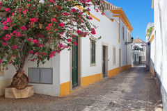 As ruas da cidade velha de Faro. fotografia de stock royalty free