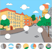 As ruas da cidade velha termine o enigma e encontre o MI Foto de Stock