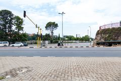 As ruas de Joanesburgo, em uma interseção Foto de Stock
