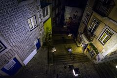 As ruas de Lisboa velha portugal foto de stock royalty free