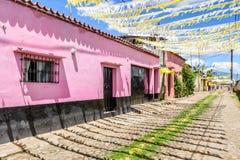 As ruas decoraram para a procissão do dia de St John, Guatemala Imagem de Stock