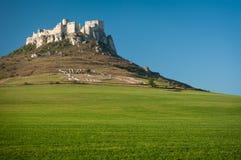 As ruínas do castelo de Spis, Slovakia Fotografia de Stock