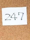 As séries de uma mensagem na cortiça embarcam, 247 Foto de Stock