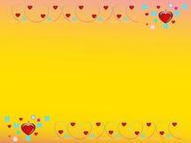 As séries do frame dos Valentim numeram um ilustração stock