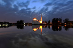 Floating Mosque at Dawn Stock Images