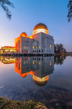 As-salam mosque reflection. This floating mosque located at puchong, selangor, malaysia Royalty Free Stock Photo