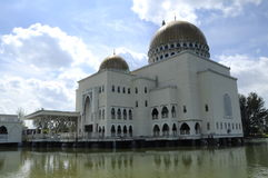 As Salam Mosque in Selangor. As-Salam Mosque known as the Floating Mosque is a mosque in Puchong Perdana, Selangor. As-Salam Mosque was first used on January 5 Royalty Free Stock Image