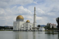 As Salam Mosque in Selangor. As-Salam Mosque known as the Floating Mosque is a mosque in Puchong Perdana, Selangor. As-Salam Mosque was first used on January 5 Stock Photos