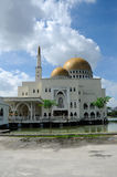 As Salam Mosque in Selangor. As-Salam Mosque known as the Floating Mosque is a mosque in Puchong Perdana, Selangor. As-Salam Mosque was first used on January 5 Stock Photo