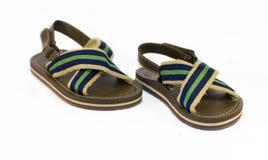 As sandálias das crianças fotografia de stock royalty free