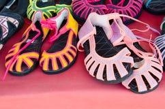 As sandálias de Mhong tribais Fotos de Stock Royalty Free
