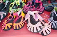 As sandálias de Mhong tribais Imagens de Stock Royalty Free