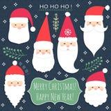 As Santa ajustaram-se Fotografia de Stock