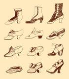 As sapatas das mulheres Imagens de Stock