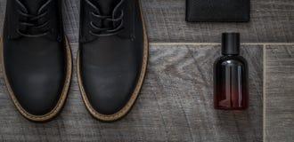 As sapatas dos homens à moda clássicos Fotografia de Stock Royalty Free