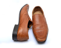 As sapatas dos homens profissionais isoladas no fundo branco imagem de stock royalty free