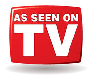 As Seen On TV Logo. An As Seen on TV Logo icon in colour Royalty Free Stock Images