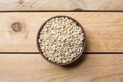 As sementes do painço podem dentro fotos de stock royalty free