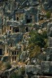 As sepulturas da rocha de Myra fotografia de stock