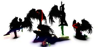 As sereias escuras ilustração do vetor